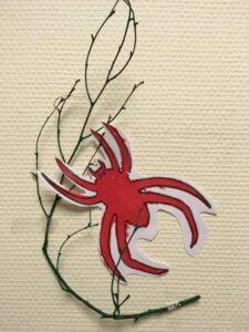 spindel på vägg