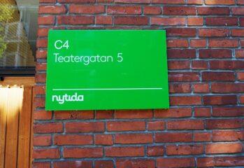 skylt C4 HVB barn och unga Kristianstad
